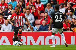 Ryan Bertrand of Southampton is marked by Aaron Lennon of Burnley  - Mandatory by-line: Ryan Hiscott/JMP - 12/08/2018 - FOOTBALL - St Mary's Stadium - Southampton, England - Southampton v Burnley - Premier League