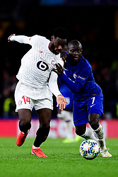Ngolo Kante of Chelsea is marked by Jonathan Bamba of Lille - Mandatory by-line: Ryan Hiscott/JMP - 10/12/2019 - FOOTBALL - Stamford Bridge - London, England - Chelsea v Lille - UEFA Champions League group stage