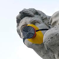 Maschere antiquinamento alle statue di Roma