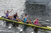 Henley on Thames, England, United Kingdom, Sunday, 07.07.19, Edinburgh University and Nottingham Rowing Club, celebrate, after winning the Final, of the Prince of Wales Challenge Cup, Henley Royal Regatta,  Henley Reach, [©Karon PHILLIPS/Intersport Images]<br /> <br /> 14:46:40 1919 - 2019, Royal Henley Peace Regatta Centenary,