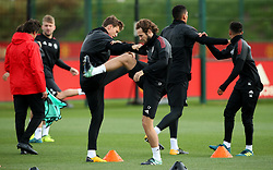 Manchester United's Daley Blind warms up with Victor Lindelof - Mandatory by-line: Matt McNulty/JMP - 11/09/2017 - FOOTBALL - AON Training Complex - Manchester, England - Manchester United v FC Basel - Press Conference & Training - UEFA Champions League - Group A
