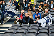 Dad, daughter and son Tottenham fans before the FA Women's Super League match between Tottenham Hotspur Women and Arsenal Women FC at Tottenham Hotspur Stadium, London, United Kingdom on 17 November 2019.