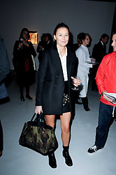 Tammy Kane at a private view of Nicolas Pol's paintings entitled 'Mother of Pouacrus' held at The Dairy, Wakefield Street, London WC1 on 14th October 2010.