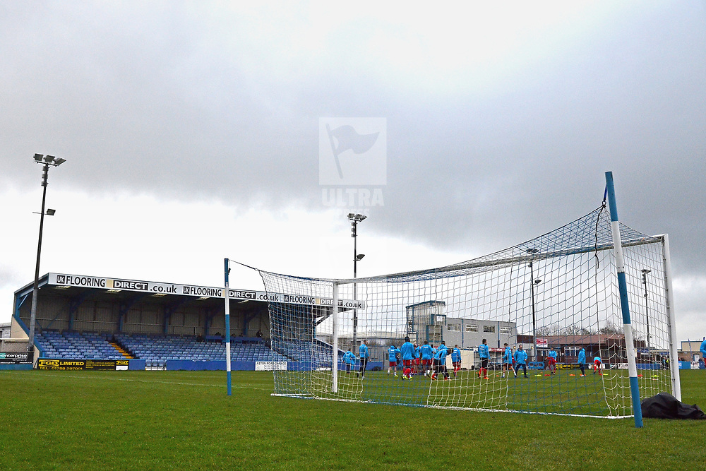 TELFORD COPYRIGHT MIKE SHERIDAN 1/1/2019 - A general view of Liberty Way during the Vanarama Conference North fixture between AFC Telford United and Nuneaton Borough FC.