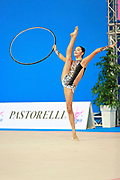 "Agiurgiuculese Alexandra during hoop routine at the International Tournament of rhythmic gymnastics ""Città di Pesaro"", 03 April,2016. Alexandra is an Italian individualistic gymnast, of Romanian origins, born in Lasi, 15 January, 2001.<br />