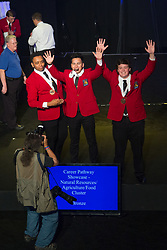 The 2017 SkillsUSA National Leadership and Skills Conference Competition Medalists were announced Friday, June 23, 2017 at Freedom Hall in Louisville.<br /> <br /> Career Pathways - Natural Resources-Agriculture-Food	<br /> <br /> Team RI (consisting of Bailey R Nance, Emma J Rossetti, Bradley Marcosa)<br />   High School	 Upper Cape Regional<br />   Gold	 Bourne, MA<br /> Career Pathways - Natural Resources-Agriculture-Food	Team RD (consisting of Sara Pesiri, Matthew Tomlin, Steven Coder)<br />   High School	 Bucks County Technical High School<br />   Silver	 Fairless Hills, PA<br /> Career Pathways - Natural Resources-Agriculture-Food	Team RF (consisting of GABRIEL ALVAREZ, MACK BLAIR, RAMZY IDRIS)<br />   High School	 Dubiski Career High School<br />   Bronze	 Grand Prairie, TX<br /> Career Pathways - Natural Resources-Agriculture-Food	Team RA (consisting of Sarah Church, Mahaila Ellis, Archie Staley)<br />   College	 Wilkes Community College<br />   Gold	 Wilkesboro, NC