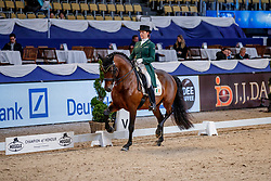 MERVELDT Anna (IRL), Esporim<br /> München - Munich Indoors 2019<br /> Preis der Liselott und Klaus Rheinberger Stiftung<br /> Grand Prix de Dressage (CDI4*) <br /> Wertungsprüfung MEGGLE Champion of Honour,<br /> Qualifikation für Grand Prix Special<br /> 22. November 2019<br /> © www.sportfotos-lafrentz.de/Stefan Lafrentz