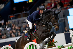 FORSTEN Mikael (FIN), Nabab's Atlanto<br /> Göteborg - Gothenburg Horse Show 2019 <br /> Int. jumping competition presented by Volvo<br /> Against the clock (1.40 m)<br /> Longines FEI Jumping World Cup™ Final and FEI Dressage World Cup™ Final<br /> 03. April 2019<br /> © www.sportfotos-lafrentz.de/Stefan Lafrentz
