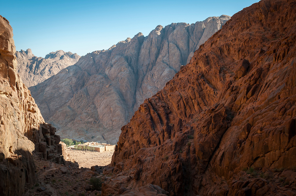 In the rugged mountains of southern Sinai, at the base of Mount Sinai, is one of the oldest functioning monasteries in the world, called Saint Catherine&rsquo;s. Much of the construction, including its tremendous walls, was done in the sixth century under the rule of the Byzantine Emperor Justinian. Within the walls are historic manuscripts and icons, resident monks, and for the last thousand years even a small mosque.<br />