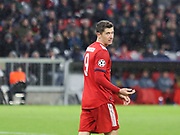 Robert Lewandowski of Bayern Munich during the Champions League round of 16, leg 2 of 2 match between Bayern Munich and Liverpool at the Allianz Arena stadium, Munich, Germany on 13 March 2019.