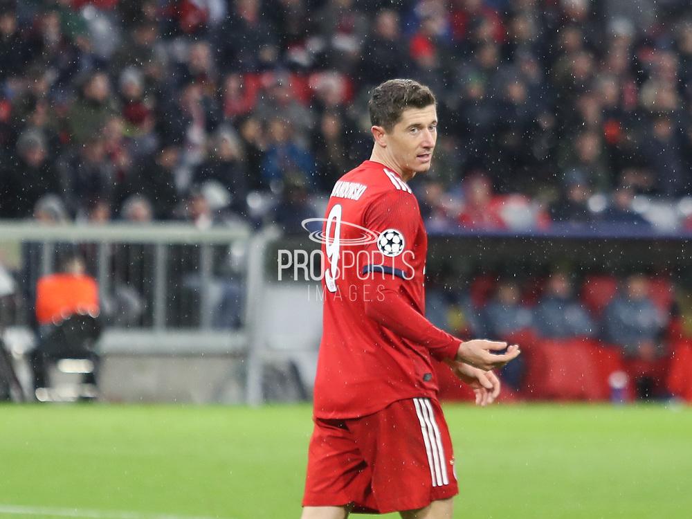 Robert Lewandowski of Bayern Munich during the Champions League round of 16, leg 2 of 2 match between Bayern Munich and Liverpool at the Allianz Arena stadium, Munich, Germany on 13 March 2019.