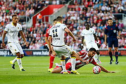 Graziano Pelle of Southampton slips - Mandatory by-line: Jason Brown/JMP - Mobile 07966386802 - 31/07/2015 - SPORT - FOOTBALL - Southampton, St Mary's Stadium - Southampton v Vitesse Arnhem - Europa League