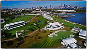JERSEY CITY, NEW JERSEY - SEPTEMBER 22: prior to the start of the Presidents Cup at Liberty National Golf Club on September 22, 2017 in Jersey City, New Jersey. (Photo by Chris Condon/PGA TOUR)