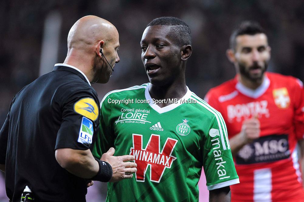 Amaury DELERUE / Allan SAINT MAXIMIN  - 21.12.2014 - Saint Etienne / Evian Thonon - 19eme journee de Ligue 1<br /> Photo : Jean Paul Thomas / Icon Sport