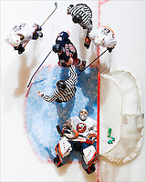 On March 5, 2007, New York Islanders goalie Rick DiPietro makes 56 saves in a game against the New York Rangers, setting a team record.<br />