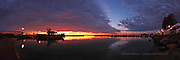 sunrise panorama from Bayfield Wisconsin