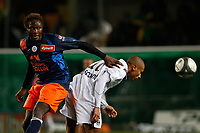 FOOTBALL - FRENCH CHAMPIONSHIP 2009/2010  - L1 - MONTPELLIER HSC v GIRONDINS BORDEAUX - 16/12/2009 - PHOTO PHILIPPE LAURENSON / DPPI - YANGAMBIWA (MON) / JUSSIE (BOR)