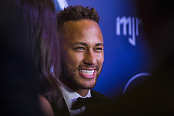 July 19, 2018 - SãO Paulo, Brazil - SÃO PAULO, SP - 19.07.2018: INSTITUTO NEYMAR JR REALIZA LEILAO - The Neymar Jr Project Institute holds, for the second consecutive year, the charity auction for the institution's socioceducational activities. In this issue, the hosts of the eveningymar Jr. and his family, welcomed about 700 700 guests among athletes, celebrities and business people. The big news of the night was the 25 lots auctioned, presented by five celebrities. In the spotlight Neymar Jr. concedes an interview. (Credit Image: © Emerson Santos/Fotoarena via ZUMA Press)