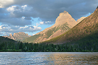 Kinnerly Peak Kintla Lake. Glacier National Park Montana