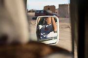 Salah Ameidan in the Sahrawi refugee camps in southwestern Algeria for the annual Sahara Marathon.