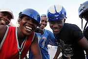 Motorcycle taxi drivers, Benguela city. Angola. Africa. .Pictures © Z & D Lightfoot..www.lightfootphoto.co.uk