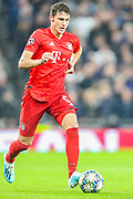 Bayern Munich defender Benjamin Pavard (5) during the Champions League match between Tottenham Hotspur and Bayern Munich at Tottenham Hotspur Stadium, London, United Kingdom on 1 October 2019.