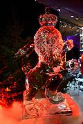 Het IJsbeelden Festival presenteert '200 jaar Koninkrijk der Nederlanden', een vorstelijke geschiedenis in ijs en sneeuw.<br /> <br /> Op de foto: IJssculptuur van de nederlandse leeuw