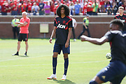 Tahith Chong in warm up during the Manchester United and Liverpool International Champions Cup match at the Michigan Stadium, Ann Arbor, United States on 28 July 2018.