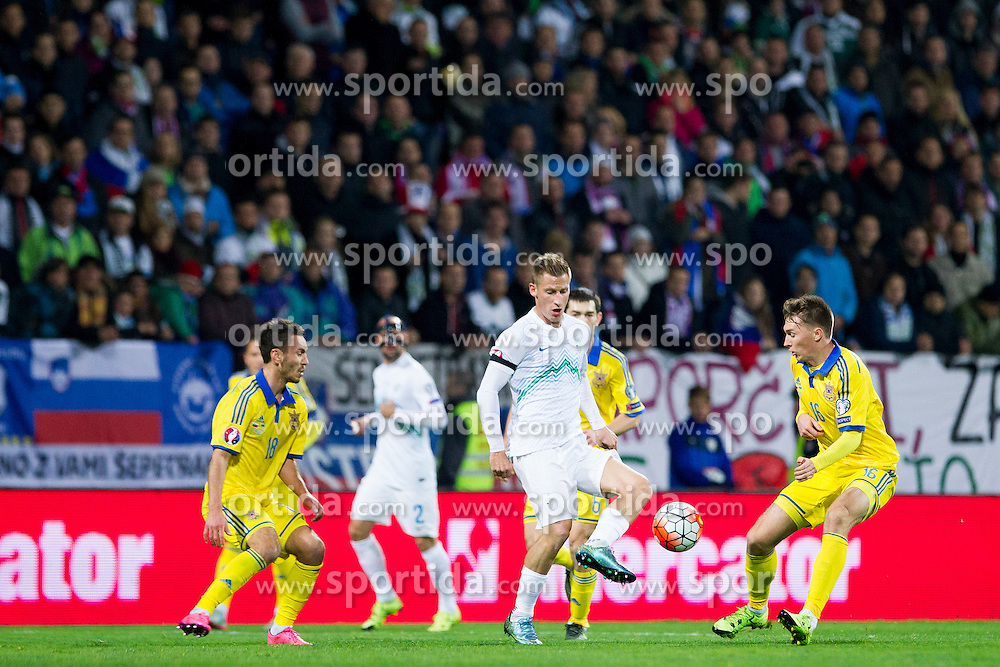 Valter Birsa (SLO) during the UEFA EURO 2016 Play-off for Final Tournament, Second leg between Slovenia and Ukraine, on November 17, 2015 in Stadium Ljudski vrt, Maribor, Slovenia. Photo by Urban Urbanc / Sportida