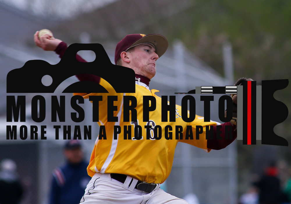 St. Elizabeth Pitcher Ryan Chipman (16) throws a pitch during of a varsity scheduled game between the Colonials of William Penn and The St. Elizabeth Vikings Saturday, April 25, 2015, at William Penn High School baseball field in New Castle Delaware.<br /> <br /> William Penn defeats St. Elizabeth 6-5