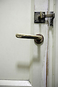 old style toilet door lock and handle