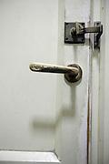 old style toilet door lock and handle
