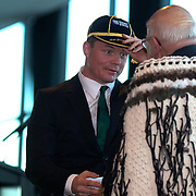 """Brian O""""Driscoll receives a traditional Maori welcome at the Irish teams Civic welcome at Skyline.  Queenstown, New Zealand, 4th September 2011. Photo Tim Clayton.."""