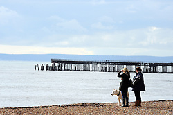 © Licensed to London News Pictures. 26/01/2015<br /> A bright but cloudy day in Hastings,East Sussex. <br /> (Byline:Grant Falvey/LNP)