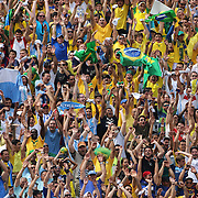 Brazilian and Argentinian fans perform the Mexican wave during the Brazil V Argentina International Football Friendly match at MetLife Stadium, East Rutherford, New Jersey, USA. 9th June 2012. Photo Tim Clayton