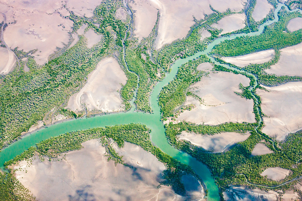 Fertile impact of the river in Mozambique