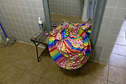 Astoria, New York           <br /> March 30, 2016<br /> A clown outfit that belongs to Kathy Vergara, 24, an employee at Blue Ballon Parties in Astoria, Queens.  This photo was taken during a training session on March 30, 2016, while Vergara was training other young adults at the company.<br /> 3/30/16<br /> Tatiana Flowers/ CUNY Graduate School of Journalism