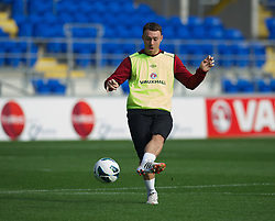 CARDIFF, WALES - Monday, October 15, 2012: Wales' Darcy Blake during a training session at the Cardiff City Stadium ahead of the Brazil 2014 FIFA World Cup Qualifying Group A match against Croatia. (Pic by David Rawcliffe/Propaganda)