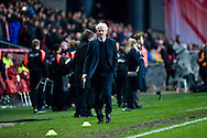 17.11.2015. Copenhagen, Denmark.<br /> Morten Olsen, Denmark coach after the match against Sweden at the Telia Parken Stadium in Copenhagen.<br /> Photo: © Ricardo Ramirez