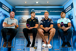 Schalk Burger of Saracens, Josh Bassett of Wasps, Jordan Crane of Bristol Bears and Francis Saili of Harlequins at the launch of the 2018/19 Gallagher Premiership Rugby Season Fixtures - Mandatory by-line: Robbie Stephenson/JMP - 06/07/2018 - RUGBY - BT Tower - London, England - Gallagher Premiership Rugby Fixture Launch