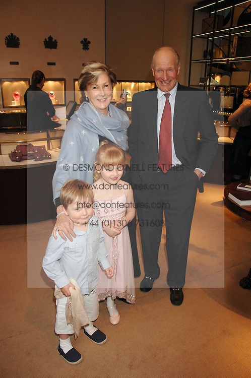 CHARLES & PATTI PALMER-TOMPKINSON and their grandchildren LILY & SASHA SEBAG-MONTEFIORE  at a party to celebrate the publication of 'Young Stalin' by Simon Sebag-Montefiore at Asprey, New Bond Street, London on 14th May 2007.<br /><br />NON EXCLUSIVE - WORLD RIGHTS