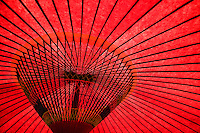 Japan Tokyo traditional red umbrella close-up