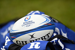 A Heineken Champions Cup branded ball - Mandatory byline: Patrick Khachfe/JMP - 07966 386802 - 13/10/2018 - RUGBY UNION - The Recreation Ground - Bath, England - Bath Rugby v Toulouse - Heineken Champions Cup