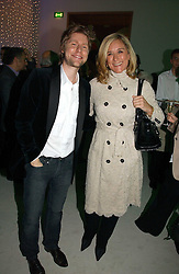 ANGELA AHRENDTS Chief Executive of Burberry and CHRISTOPHER BAILEY at an exhibition of David Hockney portraits at the National Portrait Gallery sponsored by Burberry on 11th October 2006.<br /><br />NON EXCLUSIVE - WORLD RIGHTS