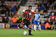 AFC Bournemouth striker Lys Mousset (31) with a shot at goal during the EFL Cup match between Bournemouth and Brighton and Hove Albion at the Vitality Stadium, Bournemouth, England on 19 September 2017. Photo by Adam Rivers.