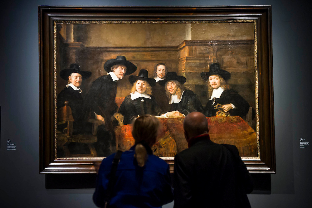Sampling Officials at the Amsterdam Drapers Guild - Rembrandt: The Late Works, a new  exhibition sponsored by Shell - the first ever in-depth exploration of Rembrandt's final years of painting. It features 'unprecedented' loans from around the world and is an opportunity to experience the 'passion, emotion and innovation' of the great master of the Dutch Golden Age.  The exhibition runs from 15 October 2014 - 18 January 2015