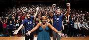 West End Stage celebrates its milestone 10,000th student<br /> with a special visit from Marisha Wallace<br /> star of multi-award winning West End musical Dreamgirls <br /> at Guildhall School of Music, London, Great Britain <br /> 17th August 2018 <br /> <br /> Marisha Wallace who plays <br /> the role of Effie White in Dreamgirls (centre)<br /> with Charlie Plumridge (age 15) from Hereford the school&rsquo;s 10,000th student (left)<br /> &amp;<br /> Stuart Thompson (aged 21) from Durham, who is now  studying at LAMDA having pursued his passion for performing. (Right)<br /> <br /> In summer 2006, West End Stage began in a bid to become the UK&rsquo;s leading theatre summer school.&nbsp;Its aim was, and still is, to ignite a global passion for theatre, uniting young people from all over the world. Throughout the week-long course led by West End stars,&nbsp;the students&nbsp; take part in in an exciting mix of drama, singing and dance classes, as well as enjoying an inspirational trip to a West End musical. The highlight of every student&rsquo;s week is the chance to make their own West End debut at Her Majesty&rsquo;s Theatre, the world-famous home of The Phantom of the Opera, in front of a huge audience of family, friends and industry professionals.<br /> <br /> Mark Puddle, Founder and Chief Executive of West End Stage, said &ldquo;I am absolutely delighted that Marisha could join us direct from the West End to celebrate the 10,000 students who have enjoyed once-in-a-lifetime opportunities at the summer school, making friends for life along the way. The course is going from strength to strength, thanks to the hard work and passion of our teachers, staff and supporters who work tirelessly to ensure a safe and exciting experience.&rdquo;<br /> <br /> Photograph by Elliott Franks