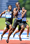 Alonso Edward (PAN) finishes second in the 200m in 20.17 during IAAF Birmingham Diamond League meeting at Alexander Stadium on Sunday, June 5, 2016, in Birmingham, United Kingdom. Photo by Jiro Mochizuki