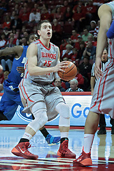 26 February 2014:  Nick Zeisloft during an NCAA Missouri Valley Conference (MVC) mens basketball game between the Indiana State Sycamores and the Illinois State Redbirds  in Redbird Arena, Normal IL.