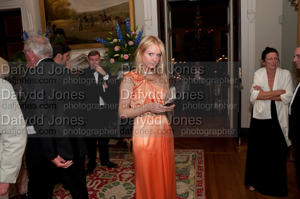 KATE REARDON, The Goodwood Ball. In aid of Gt. Ormond St. hospital. Goodwood House. 27 July 2011. <br /> <br />  , -DO NOT ARCHIVE-© Copyright Photograph by Dafydd Jones. 248 Clapham Rd. London SW9 0PZ. Tel 0207 820 0771. www.dafjones.com.